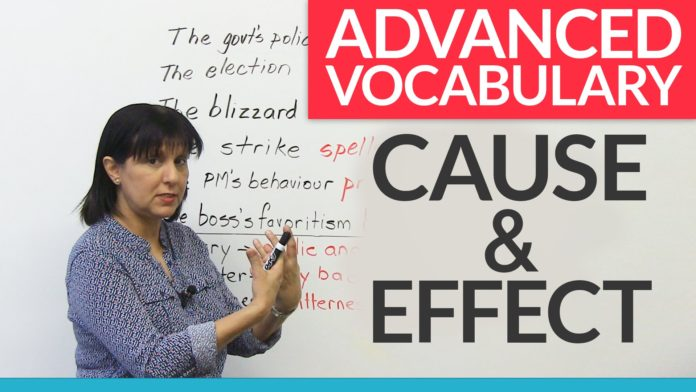 advance vocabulary of cause & effect